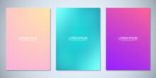 Blurred Backgrounds For Cover Design, Brochure Layout, Book, Poster Mockup, And Flyer Template. Colorful Pattern, Vibrant Colors, Fluid Abstract, Blended Colors