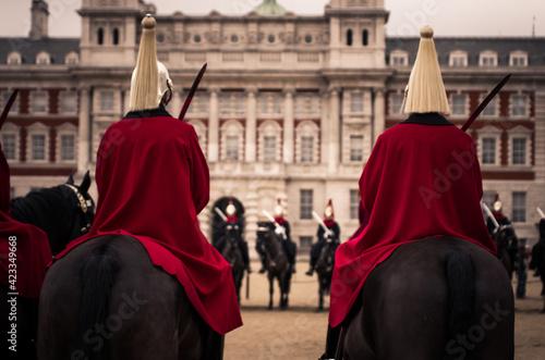 Canvas Print Horse Guard 1