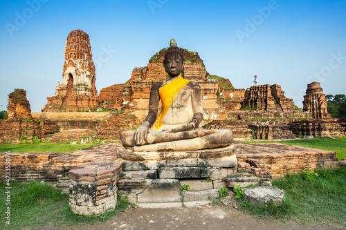 Fotografie, Obraz Buddha statue at Wat Maha That, Ayutthaya, Thailand
