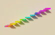 stairs with rainbow hsl color on yellow background