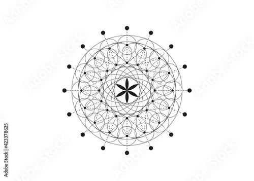 Vászonkép Flower of Life symbol Sacred Geometry