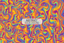 Modern Trendy Hand Drawn Abstract Psychedelic Groovy Background. Vector Illustration