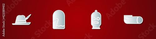 Fotografie, Obraz Set Oktoberfest hat, Christmas mitten, Balaclava and Sport socks icon