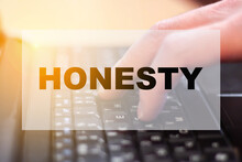 Honesty Is The Quality That The Director Is Looking For For The Future Staff, At The Computer
