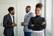 team of young african people in the office