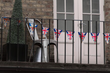 Union Jack Bounty Hanging At A Notting Hill Balcony