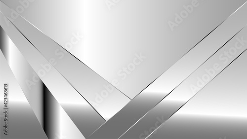 Obraz Luxury futuristic silver backround - fototapety do salonu