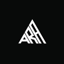 A R A Letter Logo Creative Design On Black Color Background. ARA Icon