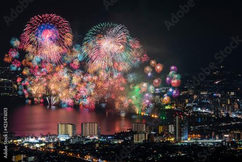 Tela びわ湖大花火大会。 日本の滋賀県大津市で開催される有名花火大会。