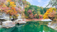 To-no-Hetsuri Is A Scenic Spot In Minami-Aizu District, Fukushima Prefecture. The Rock Was Shaped By Erosion And Took The Form Of A Tower, Hence The Name To-no-Hetsuri.