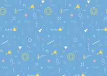 雨の形 幾何学模様 背景素材(ニュアンスカラー、ブルー)スウォッチデータ有り(横長 A3・A4比率)