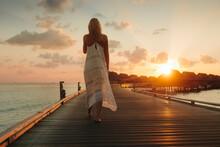 Sunset Holiday At A Sea Resort