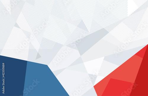 Stampa su Tela Light white geometric angular background