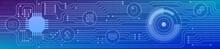 Banner Zum Thema: Web 2.0. Grafische Darstellung Mit Icons.