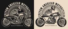 Cafe Racer Motorcycle Vintage Emblem