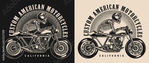 Fotografia Cafe racer motorcycle vintage emblem