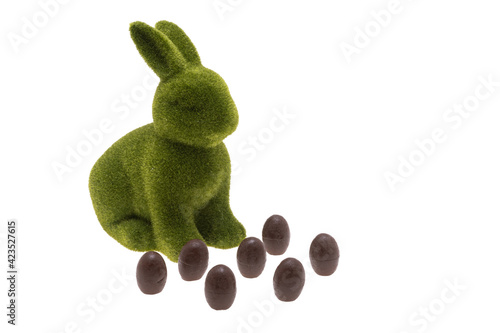 Obraz Easter green bunny isolated - fototapety do salonu