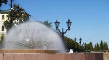 Dandelion Fountain In Tambov On The Embankment