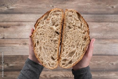 Photo .Sourdough rye bread