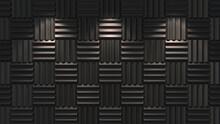 Acoustic Foam Background Illuminated. 3d Illustration