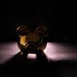 Świnka skarbonka ze światłem tylnym