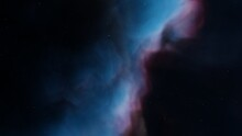 Colorful Space Background With Stars, Nebula Gas Cloud In Deep Outer Space 3d Render