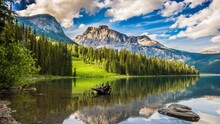 Mountain Glacier Range Lake Mountains Landscape Snow Forest Alp Park National Peak Reflection Water Sky Tree Outdoors Geological Formation Trees River Travel Wilderness Natural Elevation Scenery Sceni