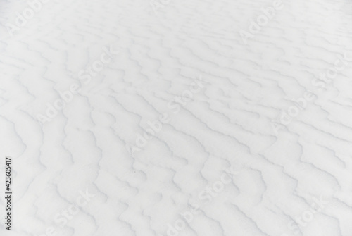 Fotografia White rippled sand at White Sands National Park
