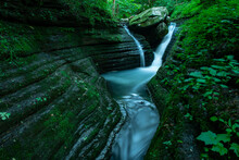 The V-Slot Canyon Falls In The Ozarks