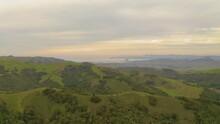 San Luis Obispo Mountain Range Wide View Pan