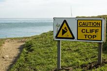 Cliff Edge Warning Sign