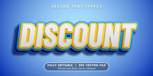 Discount Text Effect, Editable 3D Text Style