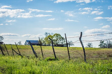 Barbed Wire Fence Landscape