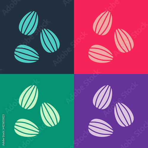 Fototapeta Pop art Seeds of a specific plant icon isolated on color background. Vector obraz