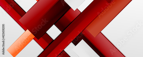 Obraz Color abstract lines trendy geometric background for business or technology presentation, internet poster or web brochure cover, wallpaper - fototapety do salonu