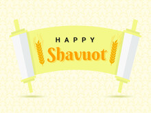 Happy Shavout With Gradient Background