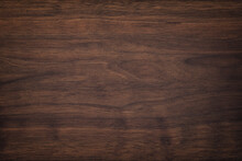 Dark Brown Wood Texture, Old Walnut Boards. Wooden Panel Background