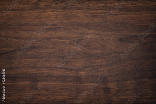 Obraz dark brown wood texture, old walnut boards. wooden panel background - fototapety do salonu