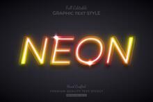 Neon Orange Glow Editable Text Effect Font Style