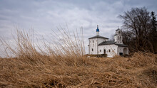 The Medieval Church Of St. Nicholas In The Truvor Settlement. Izborsk. Russia