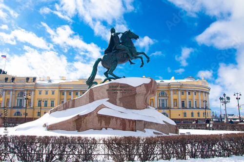 Slika na platnu Copper rider. Monument to Peter the First in St. Petersburg