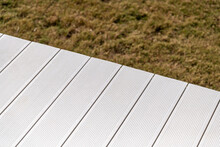 White Wpc Material Composite Deck For The Construction Of Terraces
