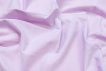Crumpled Fabric Lilac Fleece Background  - Image