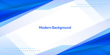 Blue Abstract Background With Geometric Shape Fluid Color