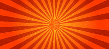 Abstract Comic Background . Orange Sunburst Background. Summer Background .