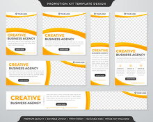 Multipurpose Promotion Kit Template Design With Modern Style And Concept Use For Business Display Ads And Publication