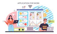 Human Resources Online Service Or Platform. Idea Of Recruitment