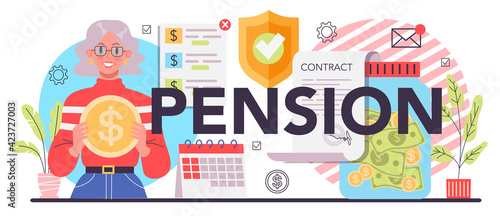 Pension typographic header Fototapet