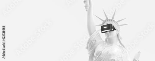 Fotografie, Tablou VR headset, future technology concept banner