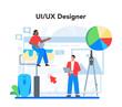 UX UI designer concept. App interface improvement. User interface
